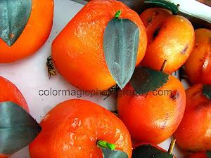 Marzipan oranges
