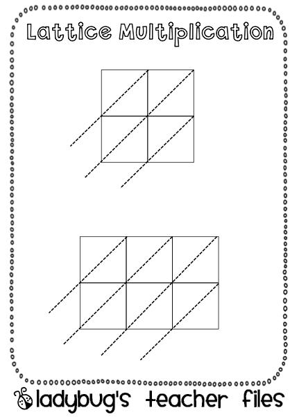 Lattice Math Graphic Organizers {printable} - Ladybugu0026#39;s ...