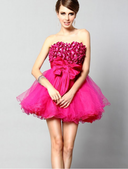 Tulle Strapless A-Line Cocktail Dress with Short Fluffy Skirt