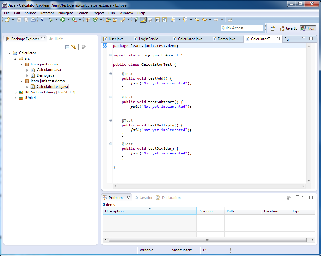 Murali's Blog: Simple Example for using JUnit with Eclipse to test ...