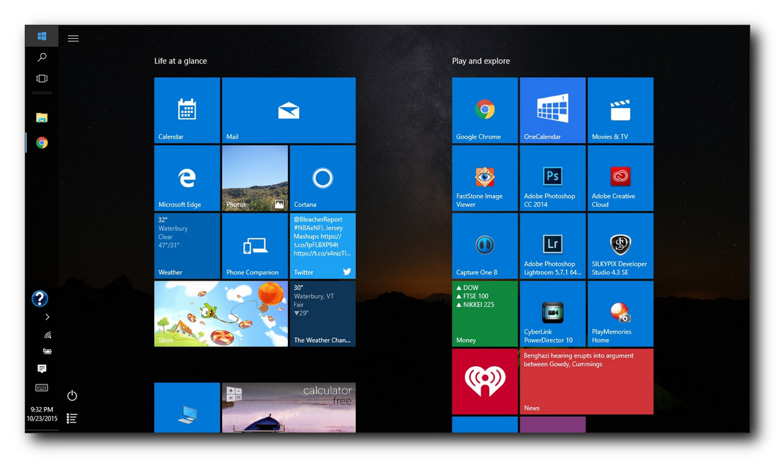 how to change operating system on windows 10