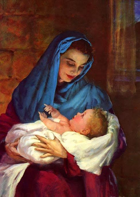 Sfanta Maria si copilul - by Harry Anderson (1906-1996).