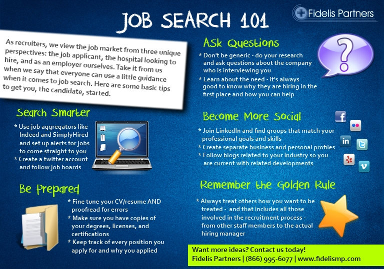 physician job search tips - job search 101