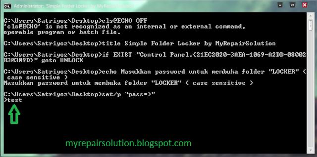 masukan password yang telah anda siapkan sebelumnya