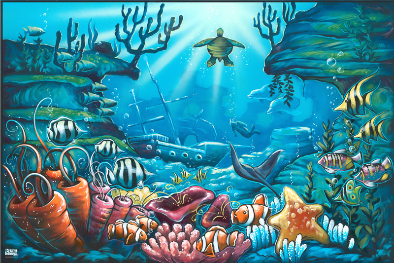 wall decal quotes wall mural ideas for kids under the sea