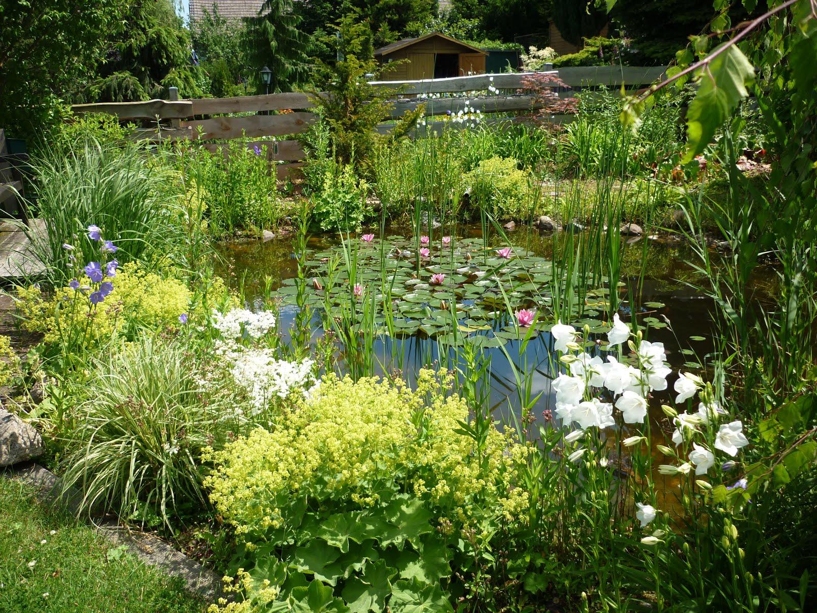 ... Garten Und Setzen Je Nach Jahreszeit Reizvolle Akzente. Neben Mehreren  Sitzplätzen Gibt Es Auf Dem Leicht Abfallenden Gelände Einen Naturnahen  Teich, ...