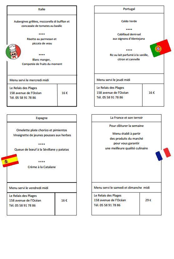 Comite de jumelage de saint paul les dax les menus des - Office du tourisme saint paul les dax ...