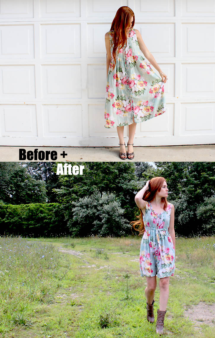 diy vintage dress reconstruction michele