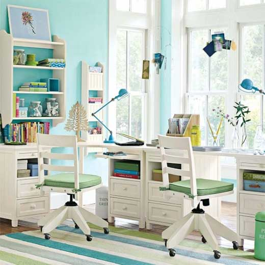 Home Design interior: kids study room design