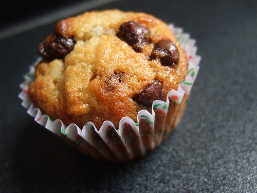 batch of the best ever gluten free banana and choc chip muffins ...