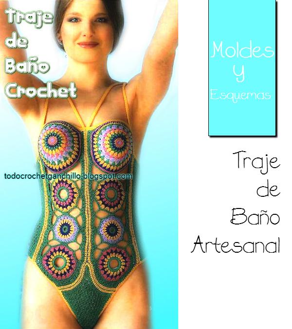 Set De Baño Tejido En Crochet Paso A Paso:Esquemas y moldes de traje de baño tejido al crochet