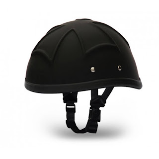 3-D Eagle Iron Cross Novelty Helmet Dull Black