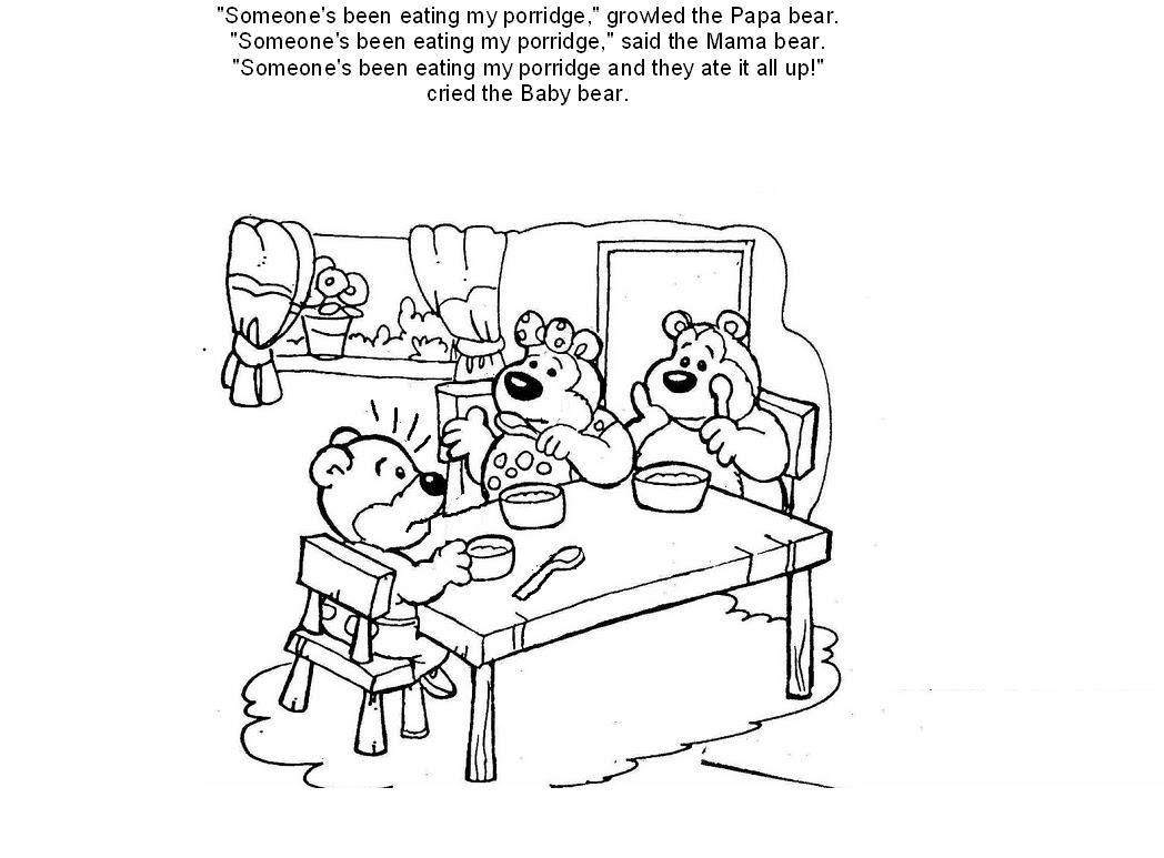 Free Coloring Pages Of The Three Bears