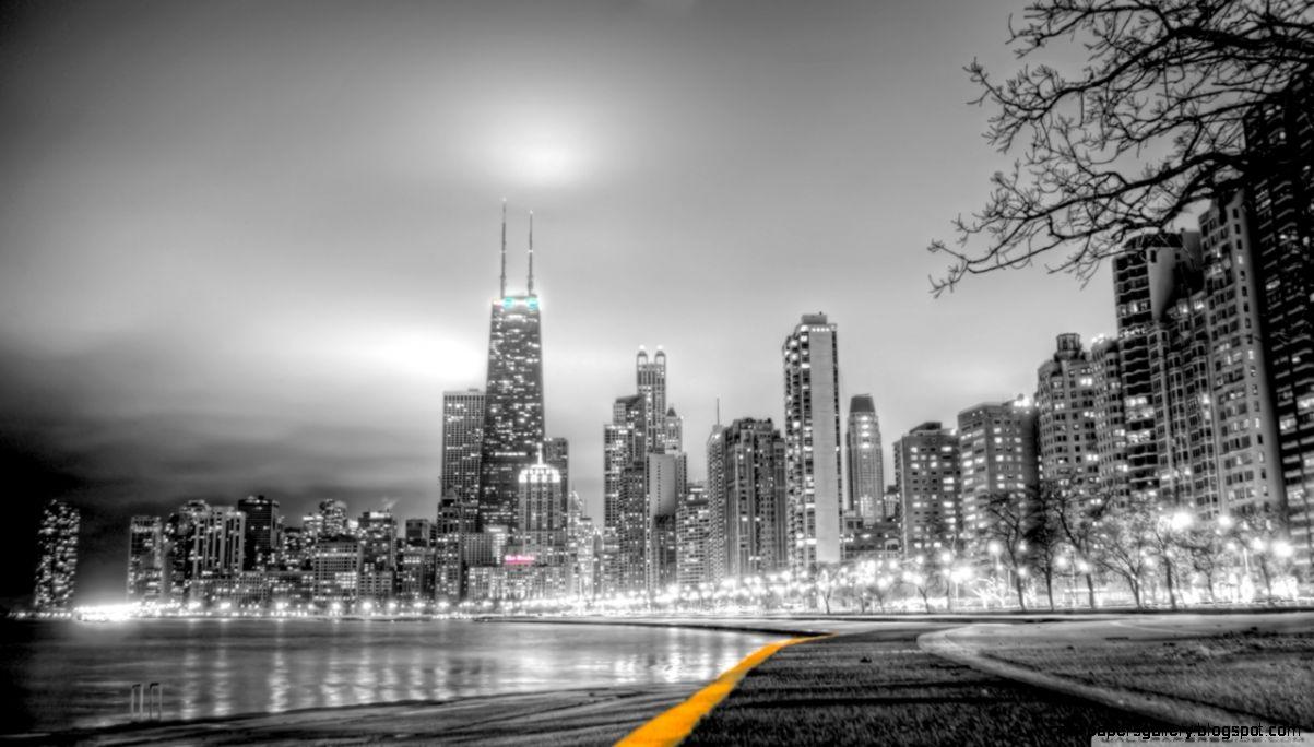 Black  White City HD desktop wallpaper  High Definition