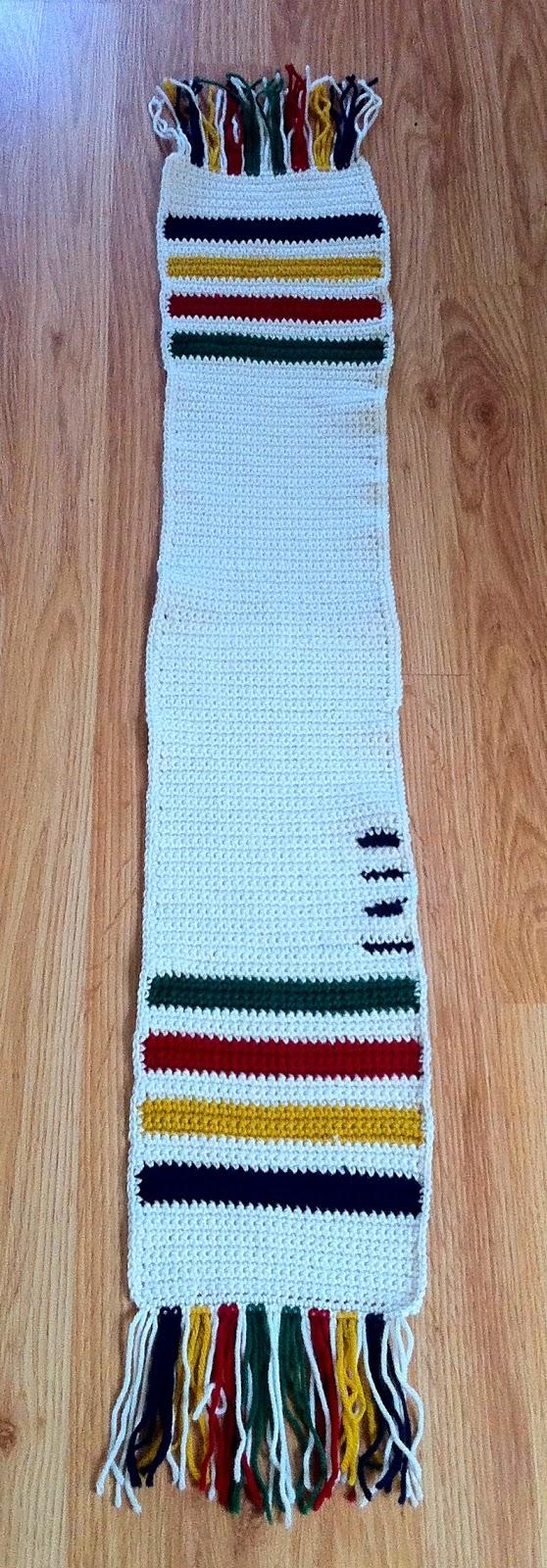 Hudson Bay Blanket Knitting Pattern : Hudsons Bay Blanket Crochet Scarf The Way I Crochet