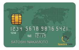 SpectroCoin bitcoin prepaid Visa creditcard EUR