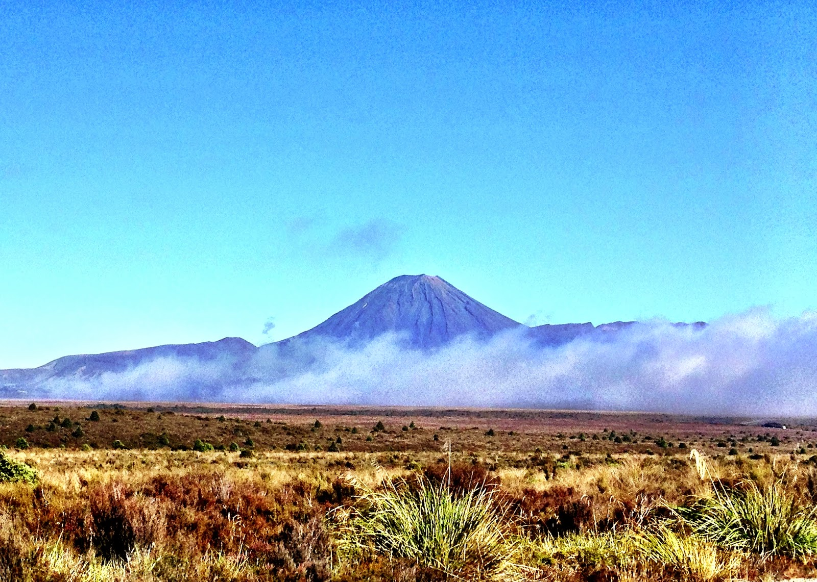 Mount Ngauruhoe from a distance - North Island, New Zealand
