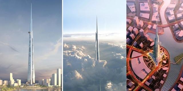 Geblek! Menara Kingdom Tower di Arab Saudi Bakal Mengalahkan Burj Khalifa
