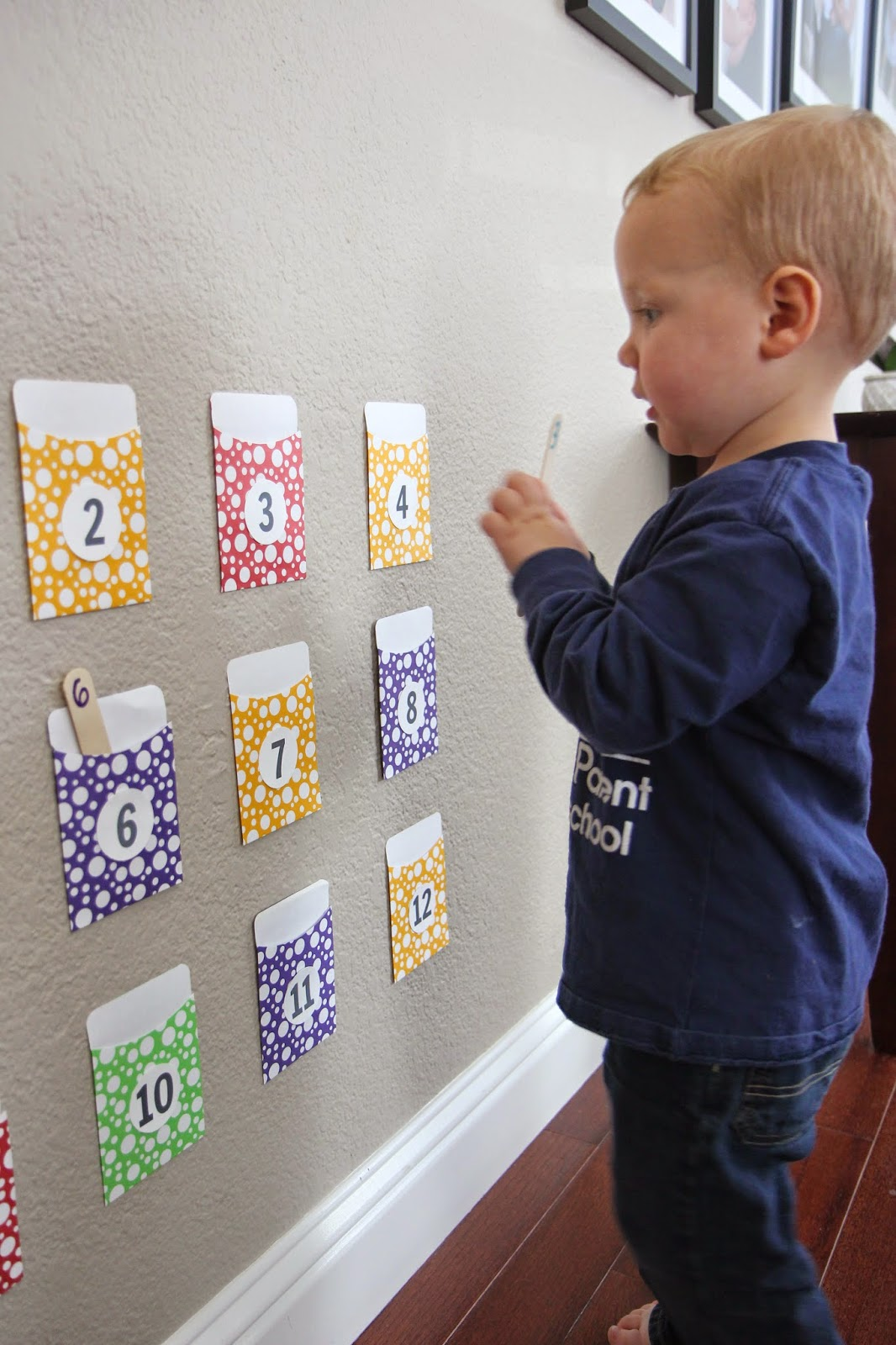 Toddler approved number pocket game for toddlers and for Educational crafts for toddlers