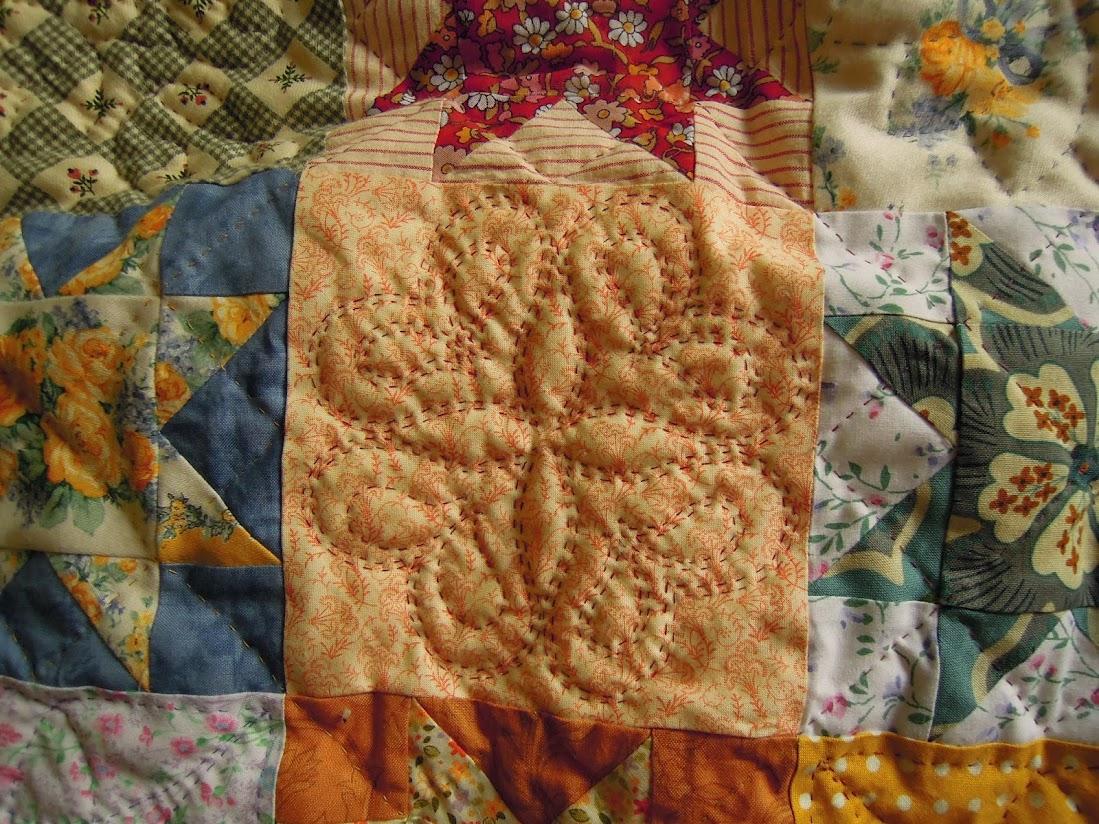 Acolchado detalle colcha patchwork