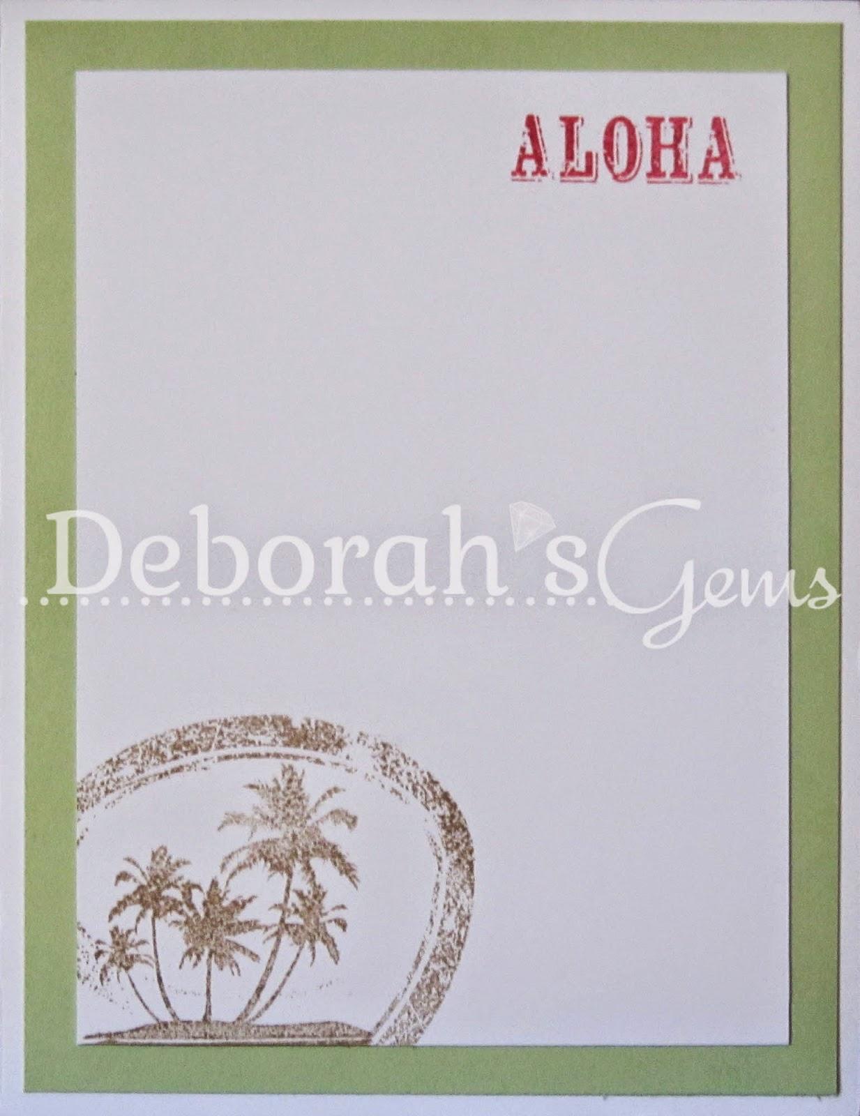Aloha inside - photo by Deborah Frings - Deborah's Gems