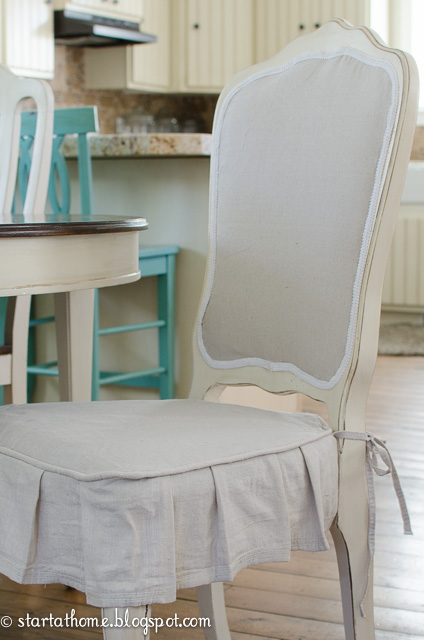 An Upholstered French Chair And A Pleated Skirt Start At