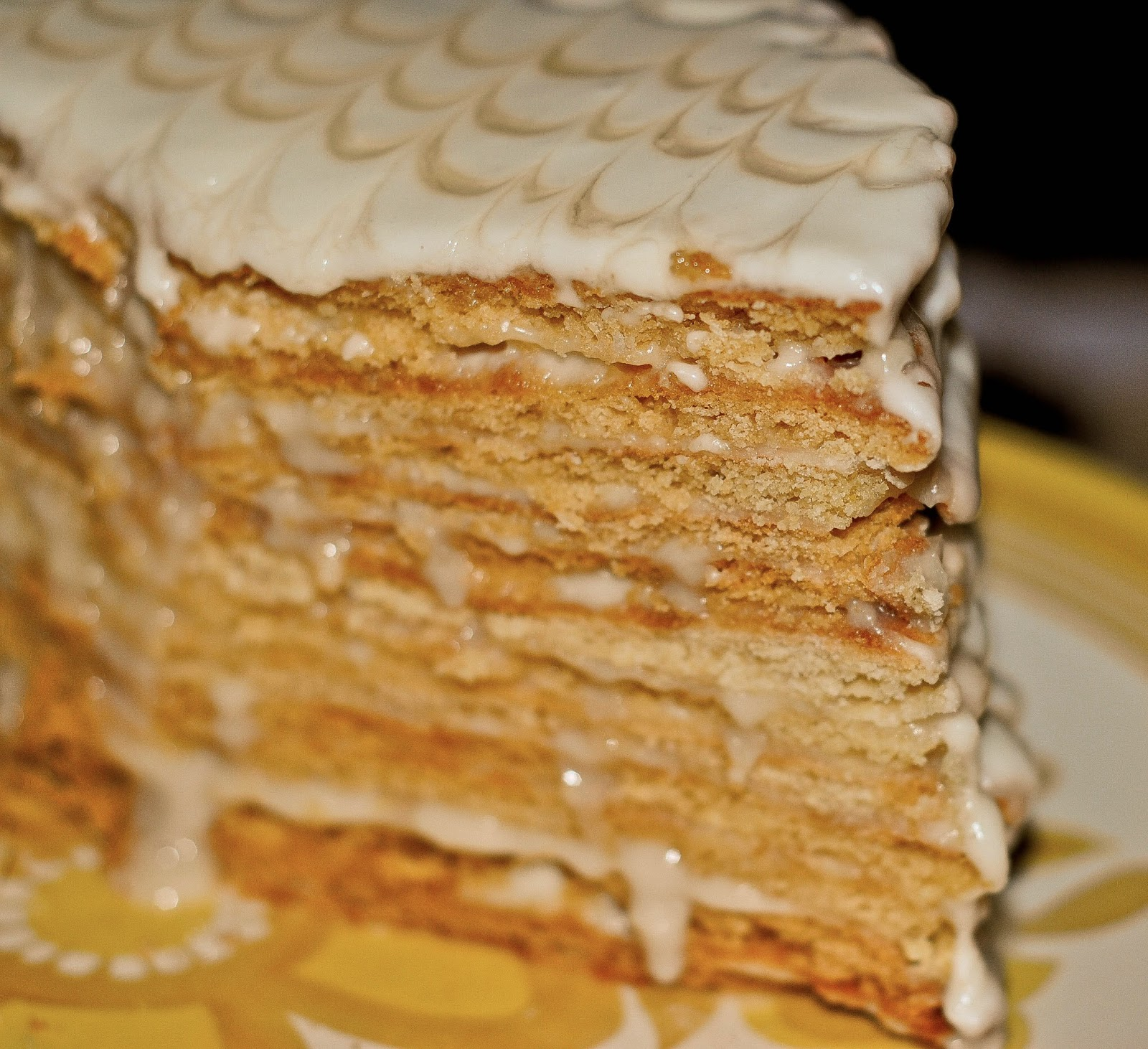 Russian Honey Cake No Sugar