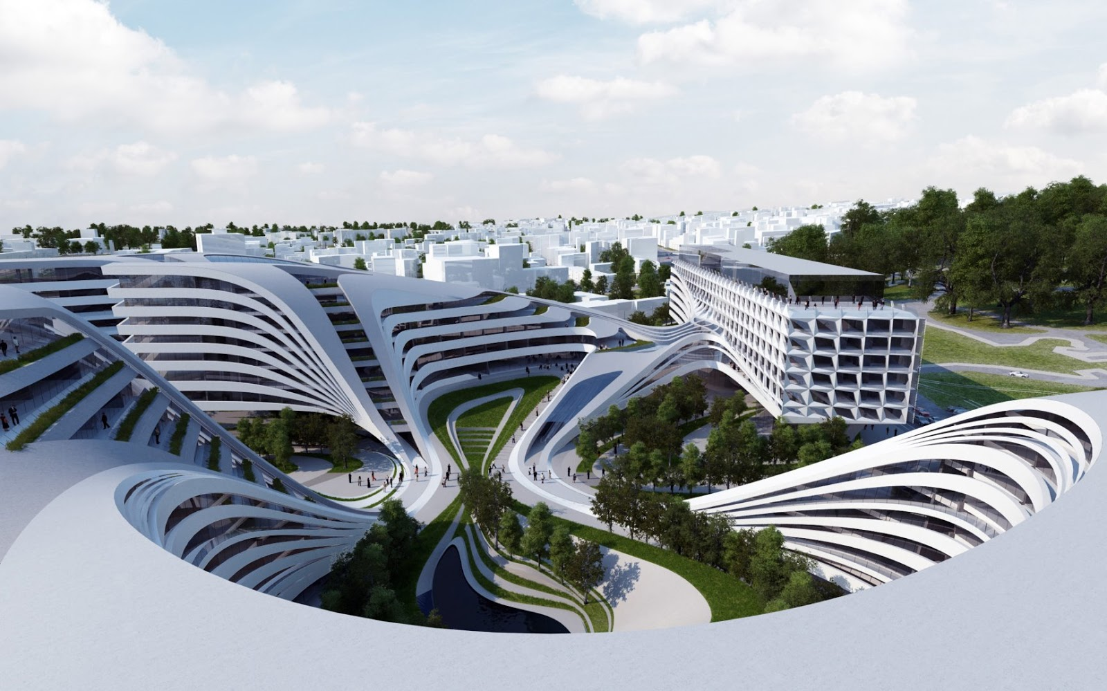 Zaha hadid architects doing their magic with modern for Architecture zaha hadid