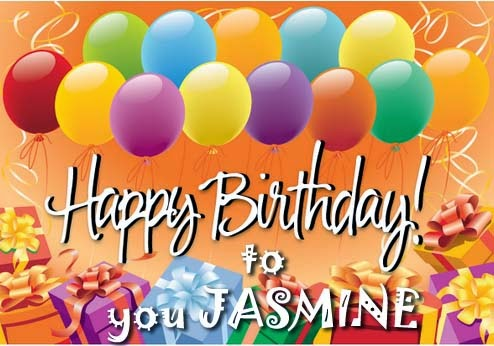 Happy Birthday Jasmine