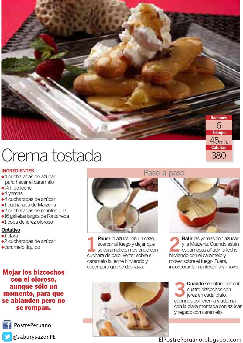 CREMA TOSTADA - Receta fácil y rápida - POSTRES CON GALLETAS - Recipes