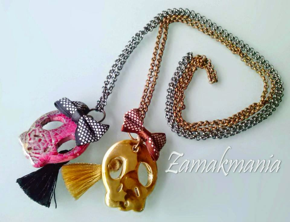 colgante calavera skull necklace halloween