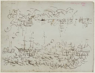 Turner's waves and boats sketch