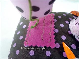 Detalhe do alfineteiro em forma de máquina de costura