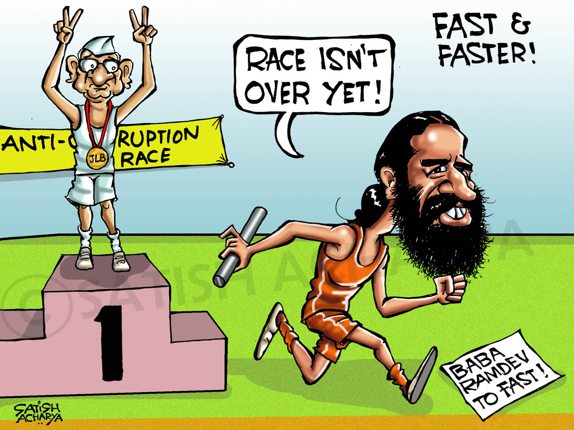 World Of An Indian Cartoonist Now Baba Ramdev Wants To Fast
