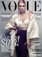 Kate Upton graces the cover of Vogue Brazil July 2013