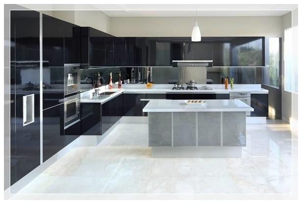 Contoh model kitchen set model rumah modern for Kitchen set mewah