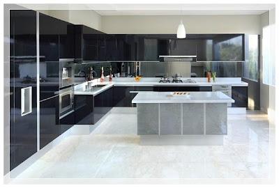 Contoh model kitchen set mewah modern