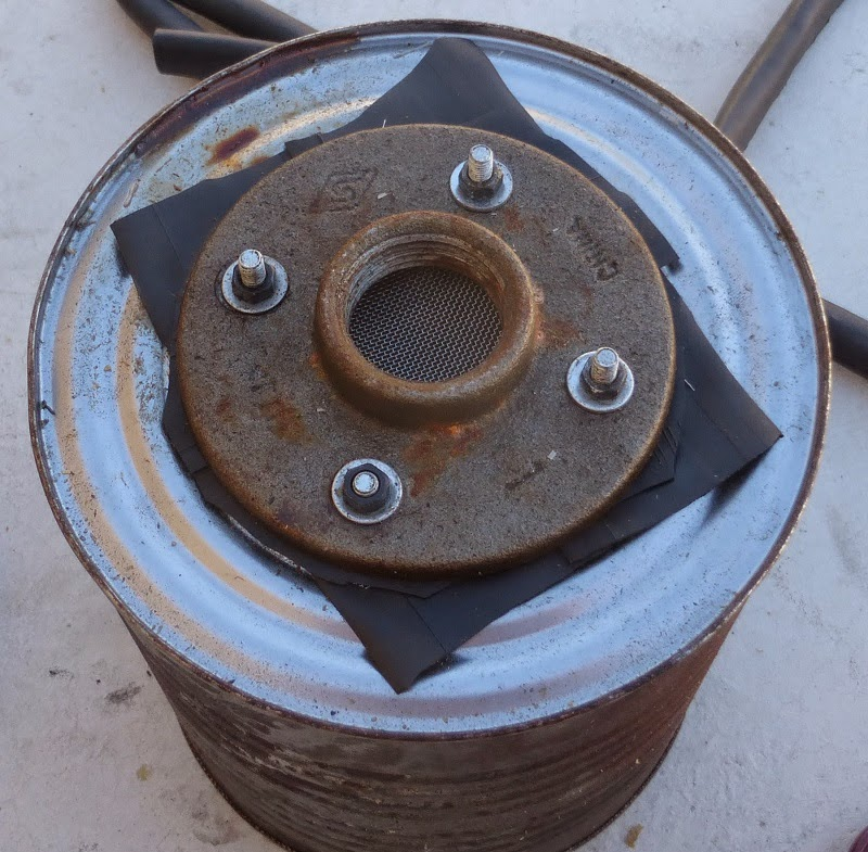 pipe flange to attach funnel