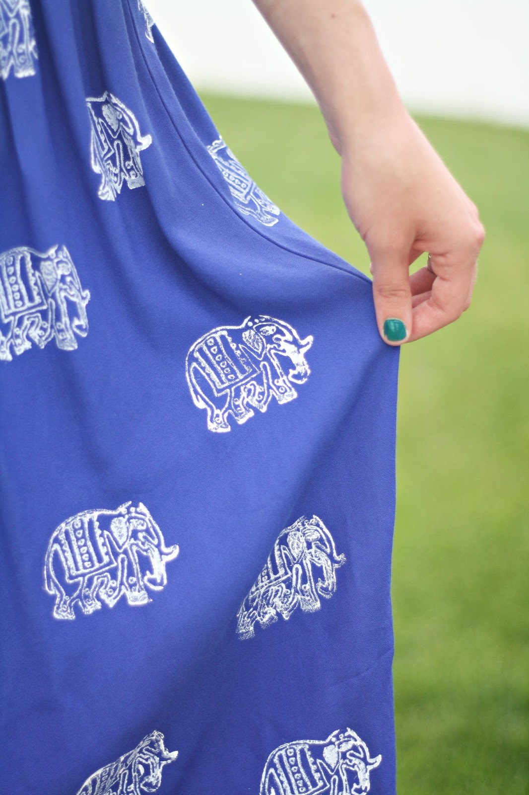 DIY Elephant Stamped Skirt + a tutorial featured by Top US Craft Blog + The Pretty Life Girls