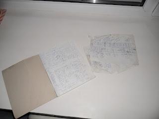 Записи в тетрадке и карты-схемы посадок