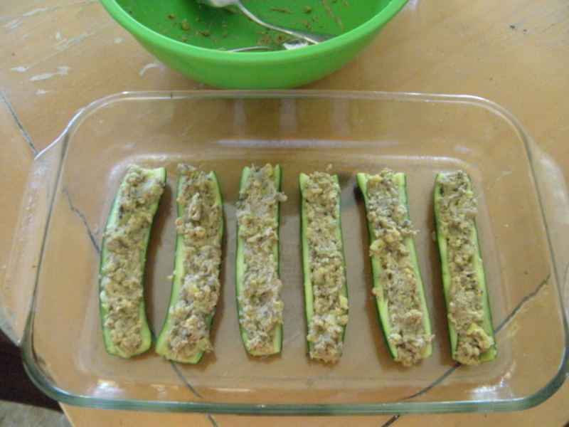 Mushroom  Onion Stuffed Zucchini365 Days of Baking