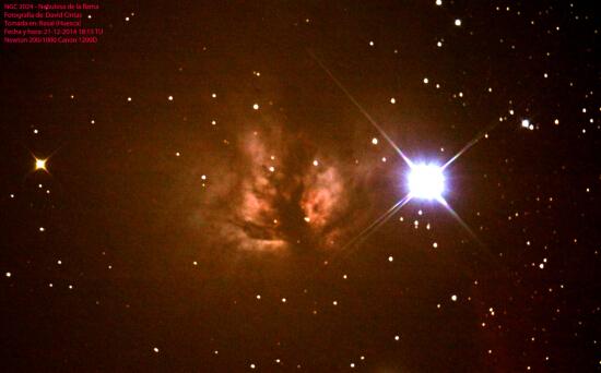 Nebulosa de la flama NGC 2024 - El cielo de Rasal