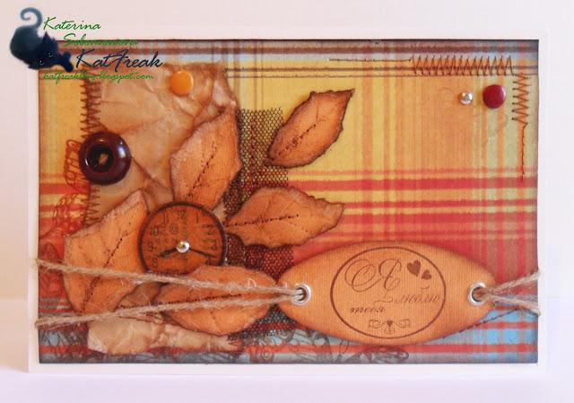 Скрапбукинг открытки в осеннем стиле 94