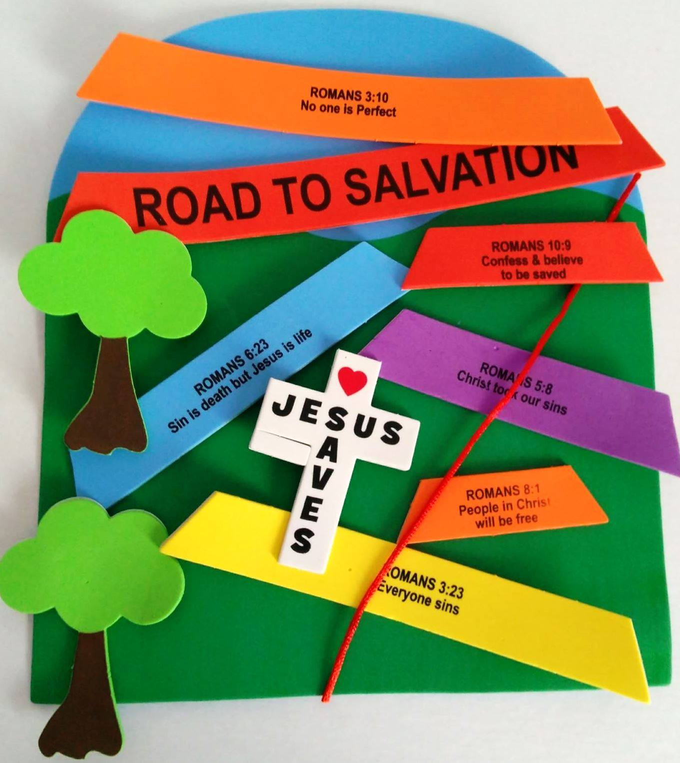 photo relating to Roman Road to Salvation Printable identify Petersham Bible Reserve Tract Depot: Romans Highway Indicator Craft Package