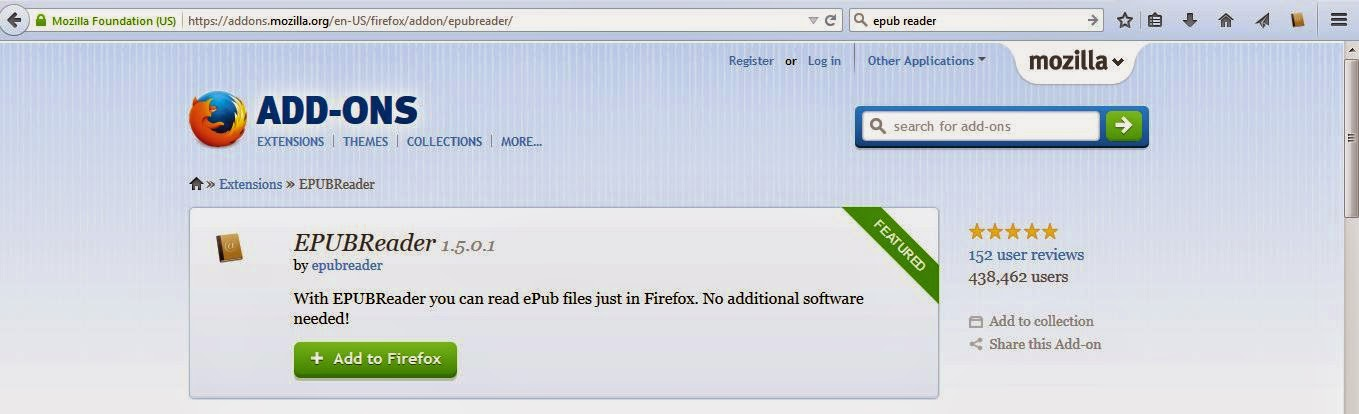 EPUBReader add-on for Firefox-Mozilla