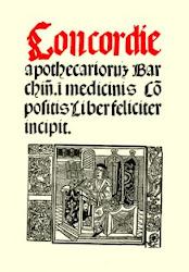 Portada de la Concòrdia dels Apotecaris de Barcelona (1511)