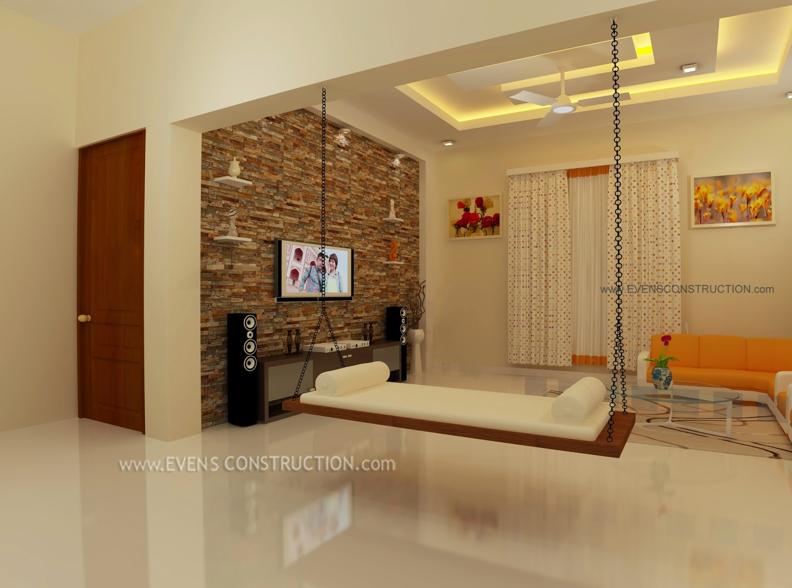 Beautiful drawing room home for Drawing room bed design