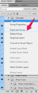 duplicate layers groups in adobe photoshop
