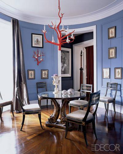 decoracion con lampara original. restaurar una lampara y pintar de rojo coral