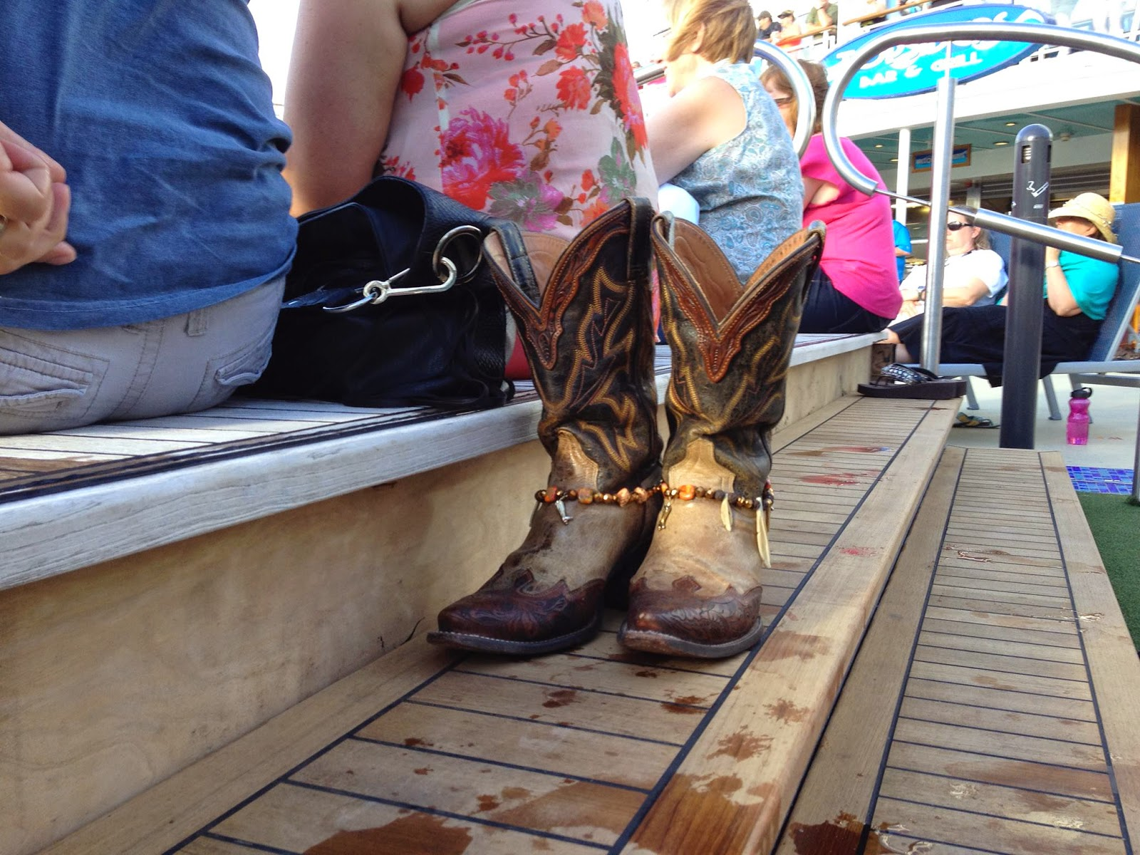 Country Music Cruise 2015 | Cowboy Boots Poolside on the Norwegian Cruise Line
